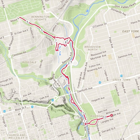 Toronto Don Valley Moor Park Walk