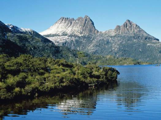 a view of cradle mountain