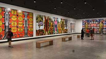 a few of the Gilbert and George panels at MONA