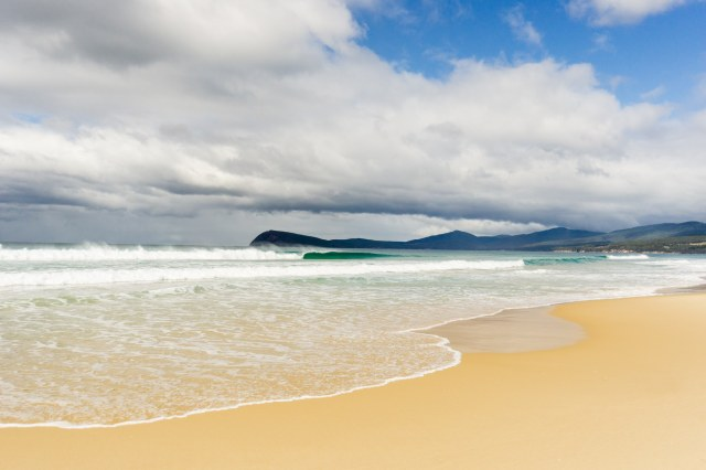 a Wow moment on the beach at Bruny Island's The Neck