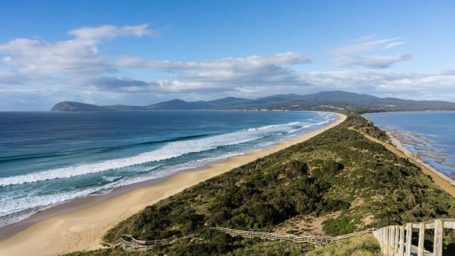 another view of Adventure Bay From The Neck Lookout on Bruny Island