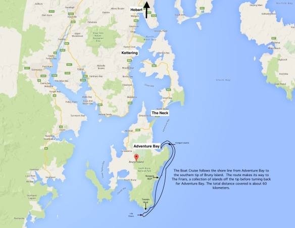 bruny-island-cruise-route