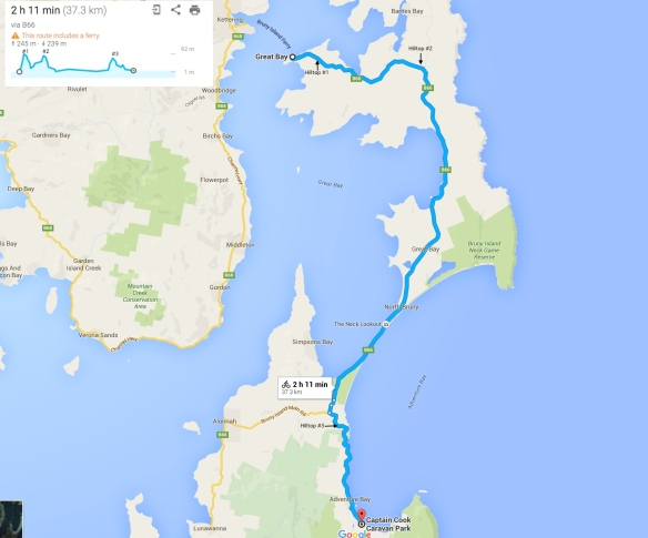 Bruny Island Road Elevation