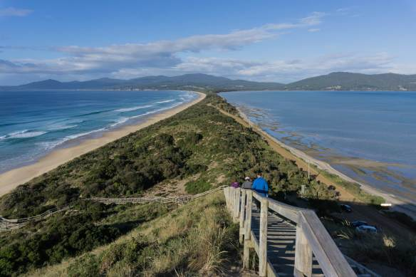 Bruny Island view from the lookout on The Neck