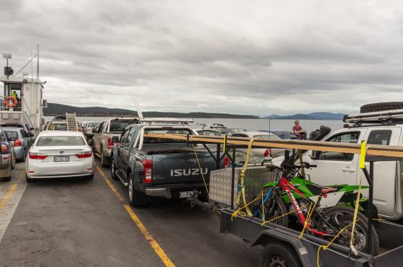 going to Bruny Island on an overcast Good Friday