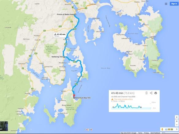 Hobart To Bruny Island (Adventure Bay)