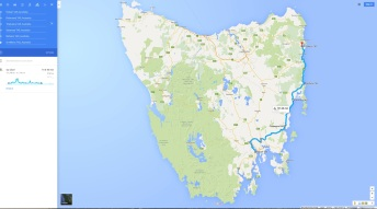 my Hobart To St. Helens route