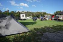 my tent at Bicheno Caravan Park