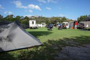 my tent at Bicheno Caravan Park