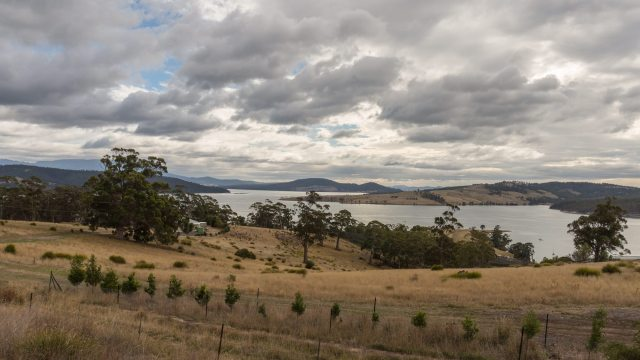North Bruny Island view on as cloudy morning