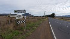 on the road to Triabunna