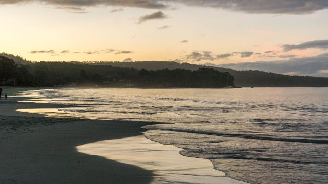 sunset on Bruny Island's Adventure Bay