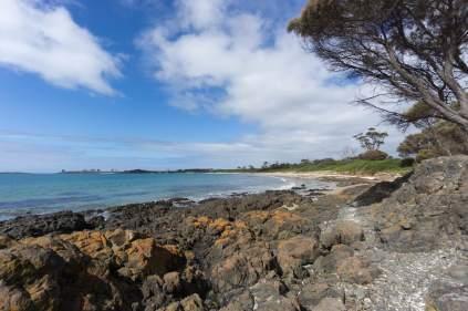 Tas east coast beach N of Triabunna