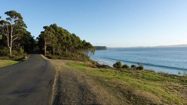 Bruny Island's Adventure Bay road on Easter Sunday morning