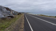 the road to St. Helens on Tasmania's east coast