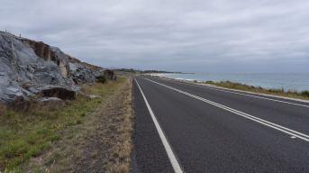 the road to St. Helens on Tasmania's east coast
