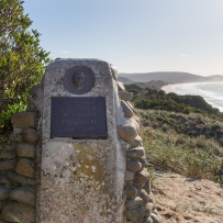 Truganini memorial plaque at the top of the lookout - Bruny Island Neck