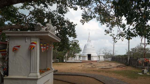 Bodhi Tree Shrine and stupa with inner shrine