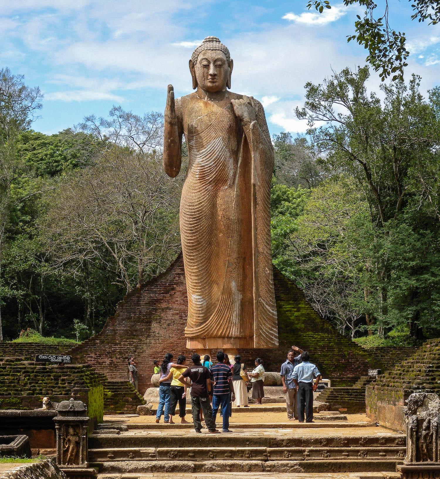 The aukana buddha sri lankas colossal standing rock statue buddha colossus biocorpaavc Choice Image