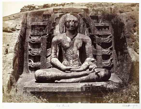 Gal Vihara seated Buddha figure - circa 1870 photo by Joseph Lawton - Victoria and Albert Collection