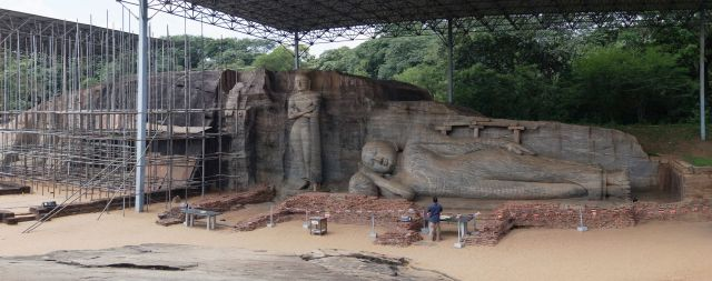 Gal Vihara site - the standing and reclining Buddhas