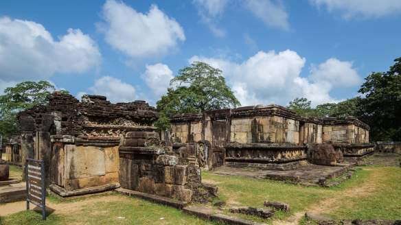 a view of the Hatadage in Polonnaruwa Sacred Quadrangle