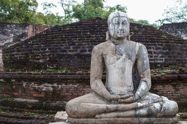 one of the four buddhas in the Vatadage
