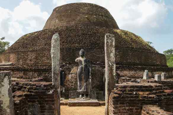 Pabalu Vihara = a dagoba to the north of the Quadrangle at Polonnaruwa