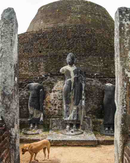 Pabalu Vihara Buddha with headless attendants