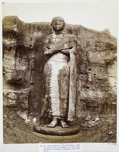 standing Buddha or Ananda at Gal Vihara - Joseph Lawton.©Victoria and Albert Collection. London.