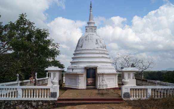 stupa-shaped shrine at Aukana