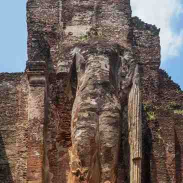 the Lankatilaka's standing Buddha - top