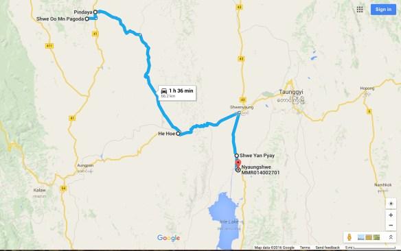 From Pindaya to Nyaung Shwe and Inle Lake