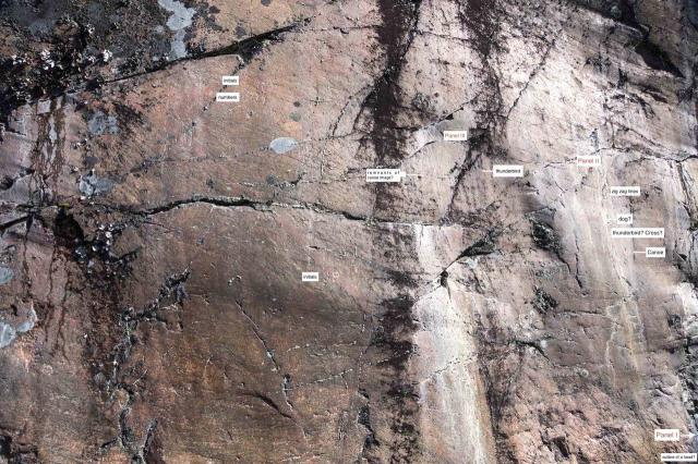 grafitti-on-the-rock-face-to-the-west-of-the-pictographs