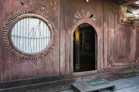Shwe Yaunghwe Kyaung (teak monastery) entrance
