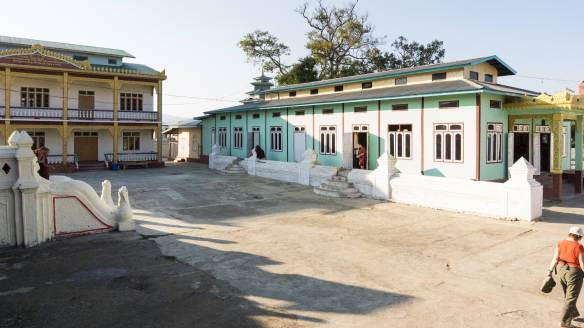 Shwe Yaunghwe Kyaung sitting area - newer buildings