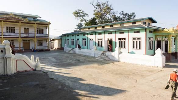 Shwe Yaunghwe Kyaung sitting area - newer buildings