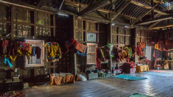 Shwe Yaunghwe Kyaung - sleeping area behind the front hall