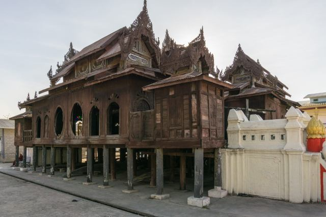 teak monastery just north of Nyaung Shwe