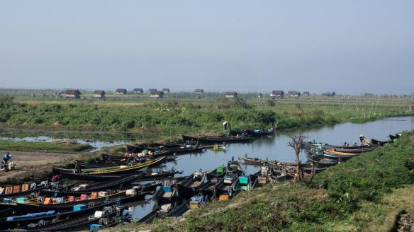 another Inle market docking area - more local than tourist