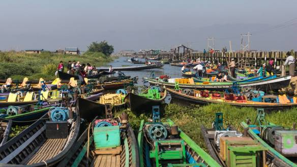 docking place for the market visitors