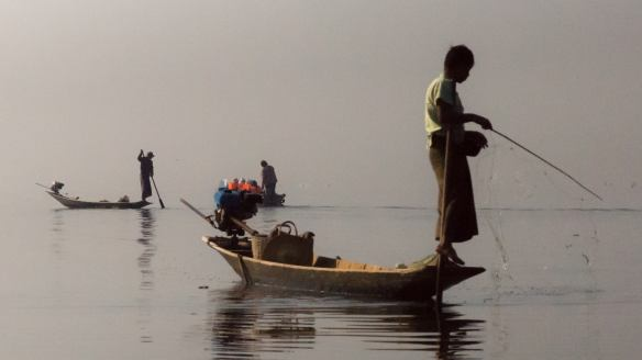 Inle Lake fisherman with net