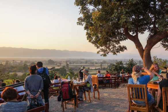 looking towards Nyaung Shwe from Red Mountain Estate Winery
