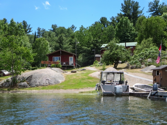 Mill Lake Lodge dock and buildings