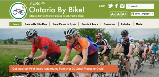 Ontario By Bike cover