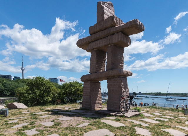 The Inukshuk on the Toronto waterfront