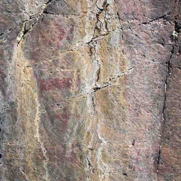 the main panel of pictographs at Collins Inlet