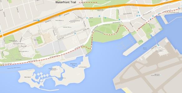 Toronto Waterfront Trail - Dufferin to Spadina