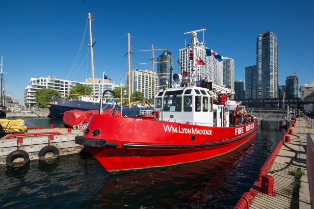 a working boat - the Toronto harbour's fire resue boat