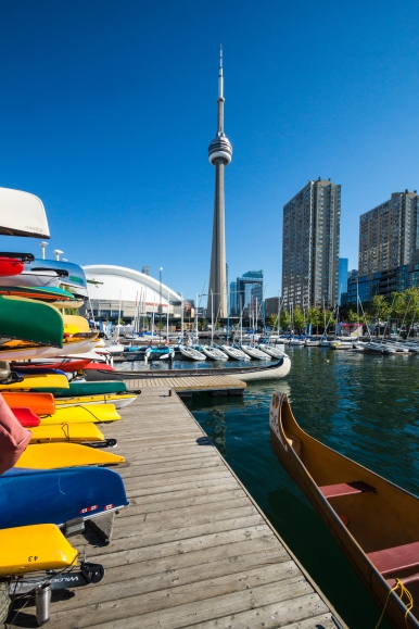 CN Tower and Harbourfront area